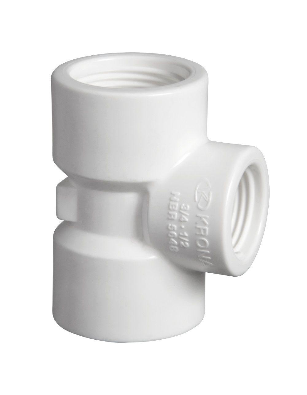 TE PVC Roscável com Redução de 3/4'' x 1/2''