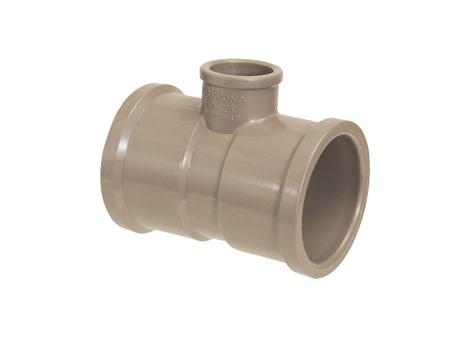 TE PVC Soldável com Redução de 50mm x 25mm