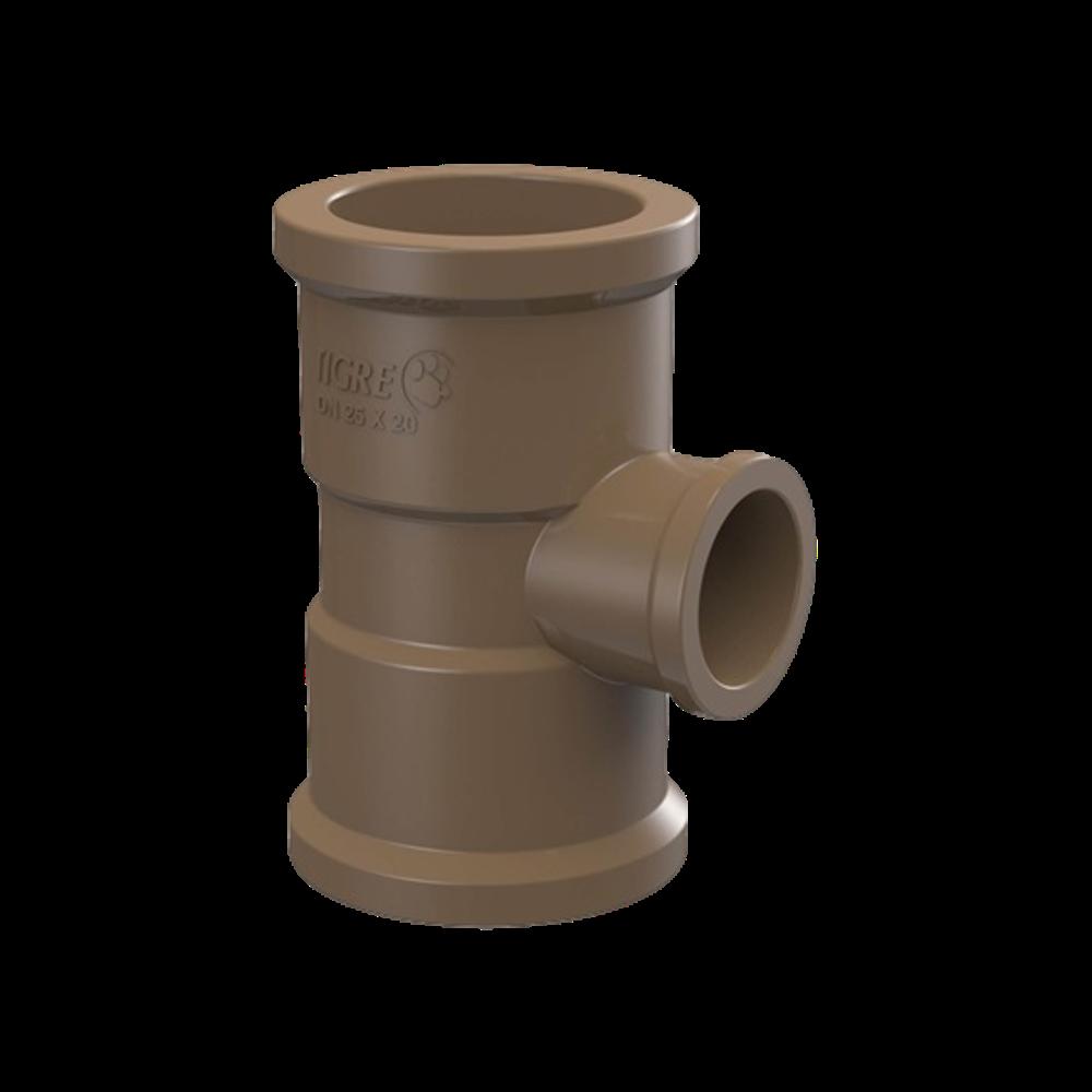 TE PVC Soldável com Redução de 60mm x 25mm
