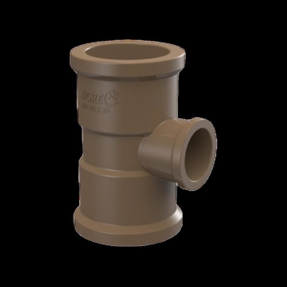 TE PVC Soldável com Redução de 75mm x 60mm