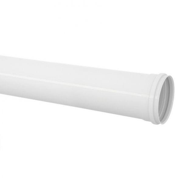Tubo Cano PVC Esgoto Branco de 75mm Barra 6 Metros