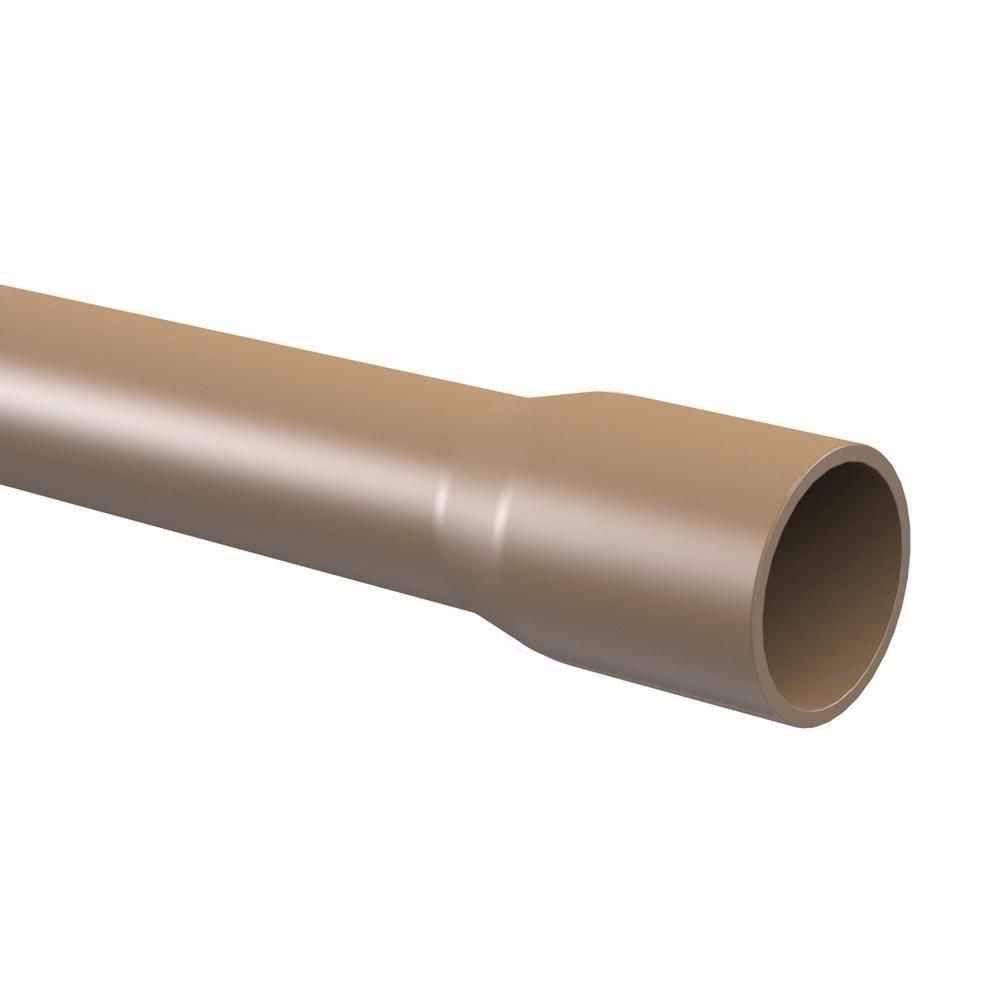Tubo Cano PVC Soldável Cola de 40mm 1.1/4'' Barra 6 Metros