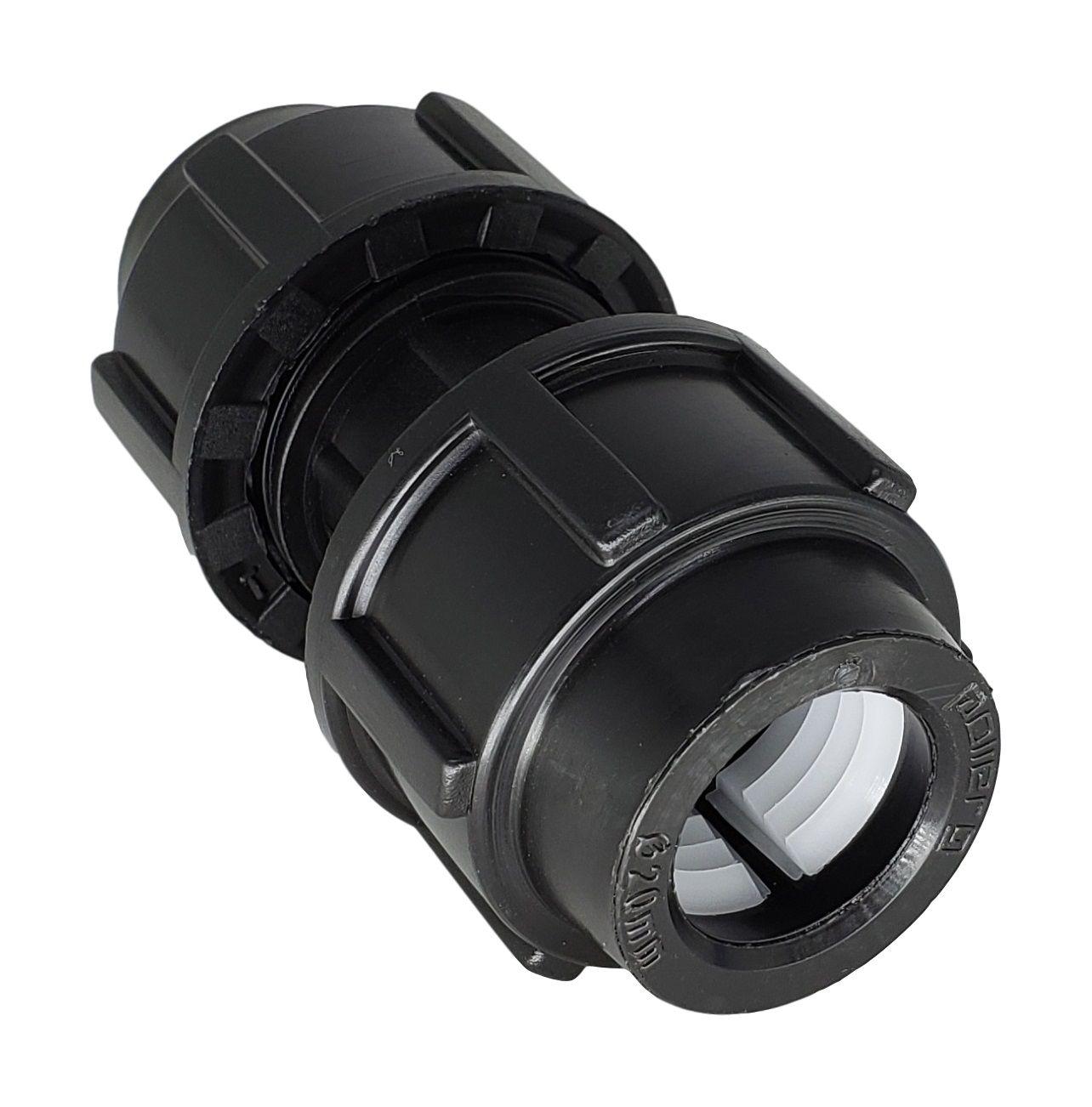 União de Compressão PP para PEAD de 20mm (Kit 50pçs)