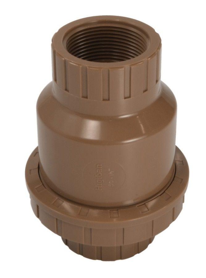 Válvula De Retenção Universal PVC Roscável De 1 1/2 Polegada
