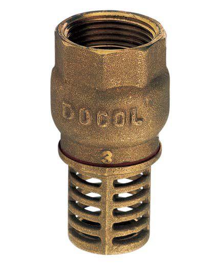 Válvula de Sucção Pé Crivo Poço Bronze de 4 Polegada Docol