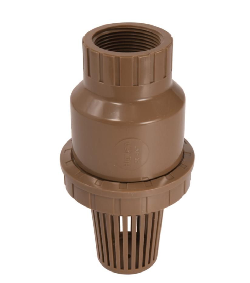 Válvula de Sucção PVC Pé Com Crivo Roscável de 1 1/2 Poleg.