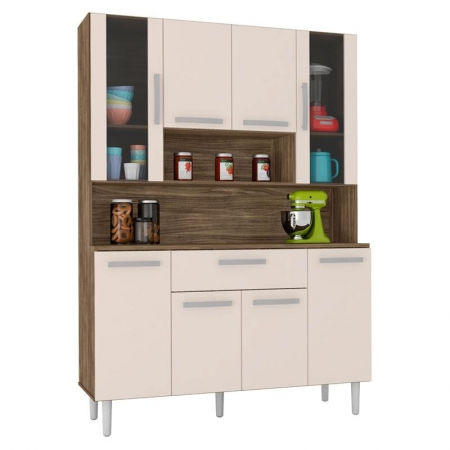 Armário de Cozinha Kit Cancun 8 Portas Teka Champanhe - Incorplac