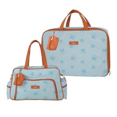 Bolsa e Mala Maternidade Céu Estrelado Azul - Hug