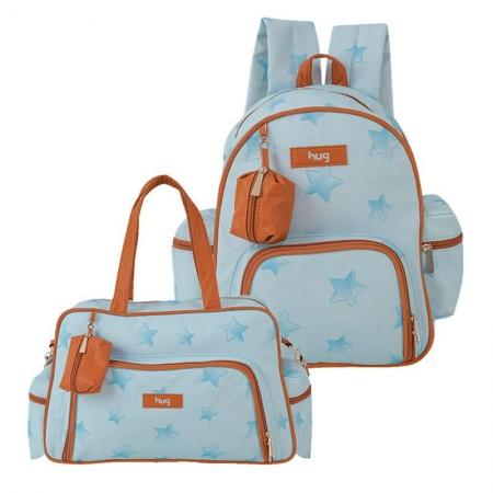 Bolsa e Mochila Maternidade Céu Estrelado Azul - Hug