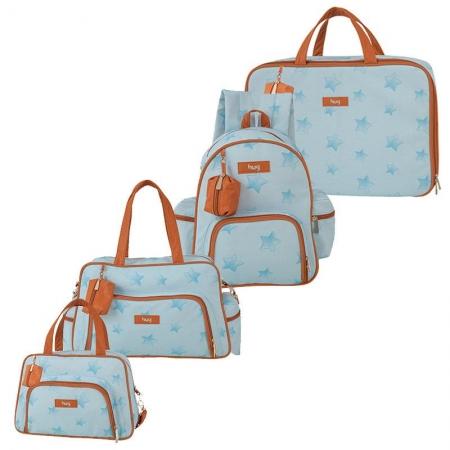 Bolsa Maternidade Kit 4 Peças Céu Estrelado Azul - Hug