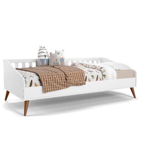 Cama Infantil Baba Retrô Branco Soft Eco Wood - Matic