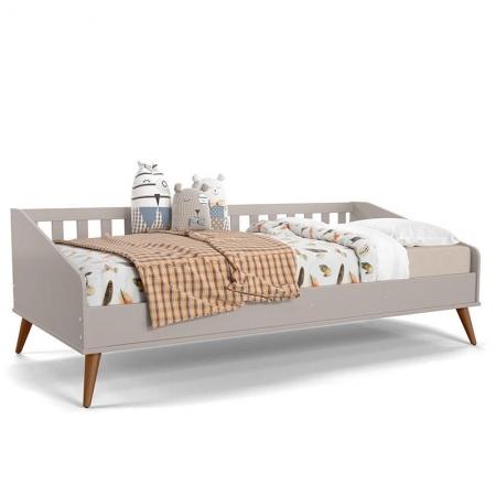 Cama Infantil Baba Retrô Cinza Eco Wood - Matic
