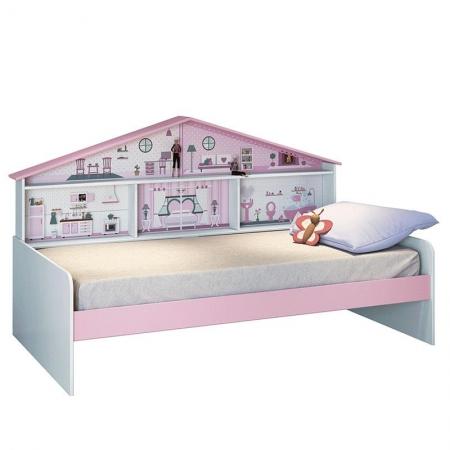 Cama Infantil Casa de Boneca Diversão com Led - Pura Magia