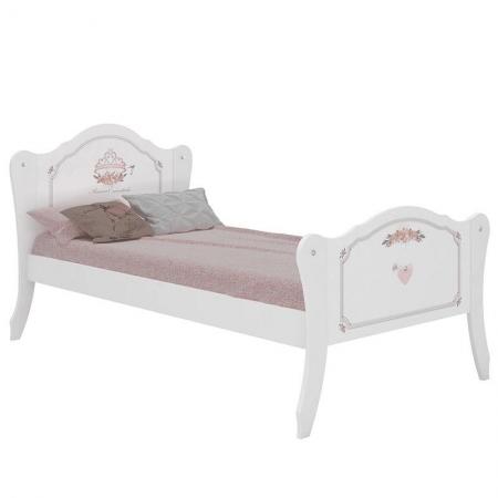 Cama Infantil Princesa Encantada Clean Branco - Pura Magia