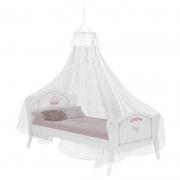Cama Infantil Princesa Encantada Clean com Dossel de Teto Branco - Pura Magia
