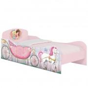 Cama Infantil Princesas na Floresta Rosa Acetinado - Móveis Estrela