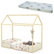 Cama Montessoriana Liv Off White Natural com Colchão - Matic