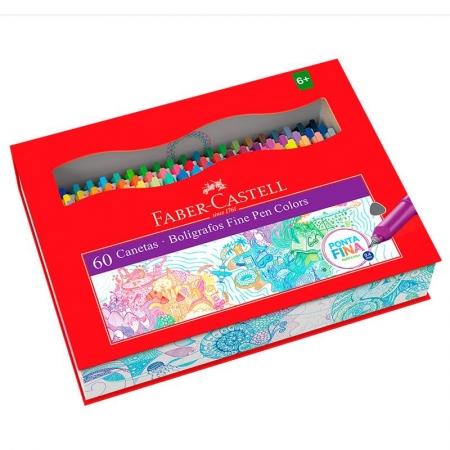Caneta Hidrográfica Fine Pen Colors 60 Cores FPBES60ZF - Faber Castell