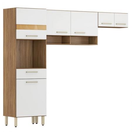 Cozinha Compacta Dama 3 Peças Amêndola Branco - Demóbile