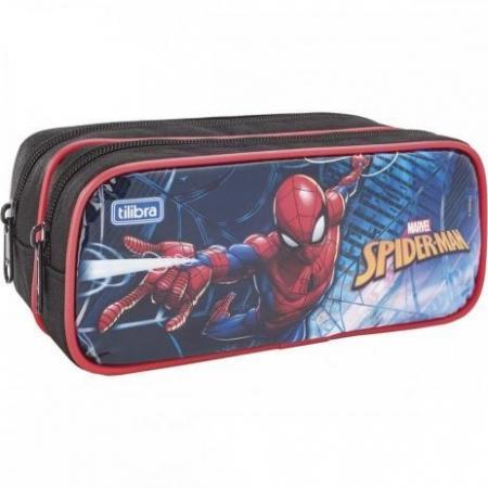 Estojo Escolar Duplo Grande Spider Man 149048 - Tilibra