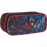 Estojo Escolar Triplo Grande Spider Man 148904 - Tilibra