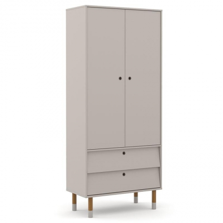Guarda Roupa Infantil UP 2 Portas Cinza Eco Wood - Matic