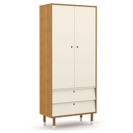 Guarda Roupa Infantil UP 2 Portas Freijó Off White Eco Wood - Matic