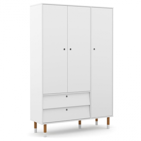 Guarda Roupa Infantil UP 3 Portas Branco Soft Eco Wood - Matic