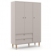 Guarda Roupa Infantil UP 3 Portas Cinza Eco Wood - Matic