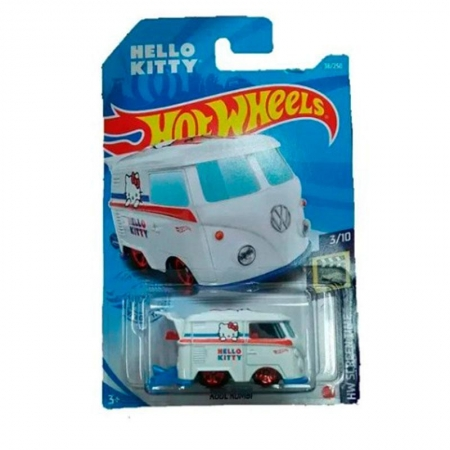 Hot Wheels kool kombi Hello Kitty Miniatura Branco