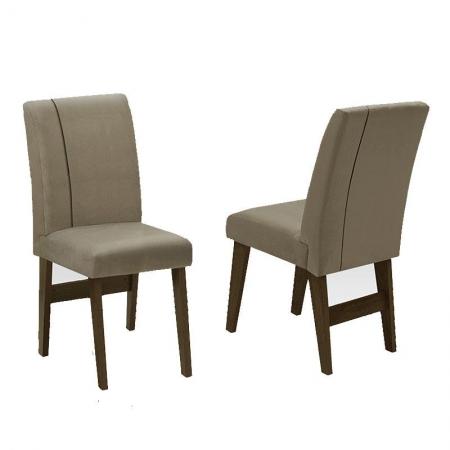 Kit 2 Cadeiras Padua Castanho Mascavo - Dobuê