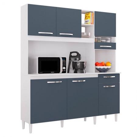 Kit para Cozinha Barbara Branco Cinza Platinum - Poquema