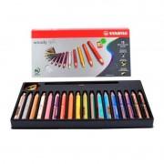 Lápis de cor 3 em 1 Stabilo Wood 18 Cores com Apontador