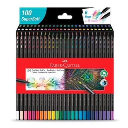 Lápis de cor EcoLápis 100 Cores SuperSoft 1207100SOFT - Faber Castell