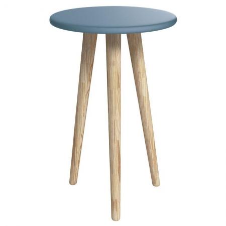 Mesa de Canto Theo Azul Madeira Natural - Reller