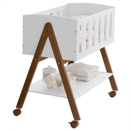 Mini Berço Moises Sissi Branco Eco Wood - Matic Móveis