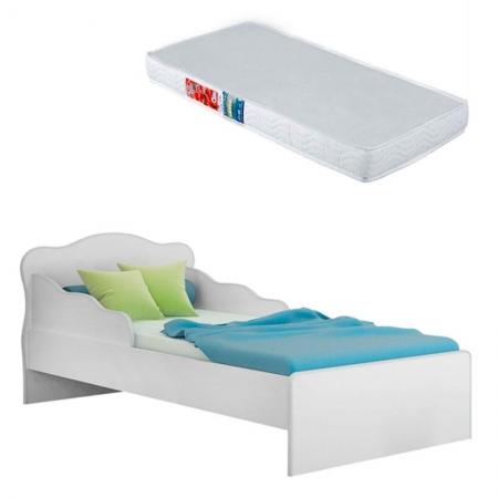 Mini Cama Doce Sonho 113 Branco com Colchão Ortobom - Qmovi
