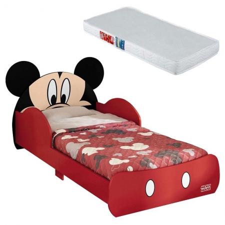 Mini Cama Infantil Mickey Disney 7A com Colchão - Pura Magia