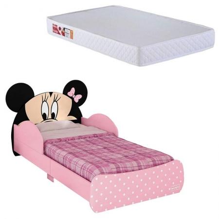 Mini Cama Infantil Minnie Disney 7A com Colchão Ortobom 150x70 cm - Pura Magia