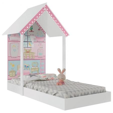 Mini Cama Infantil Montessoriana Casa de Boneca Branco - Pura Magia