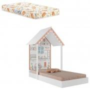 Mini Cama Infantil Montessoriana Home Branco com Colchão 150x70cm Umaflex -  Pura Magia