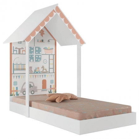Mini Cama Infantil Montessoriana Home Branco -  Pura Magia