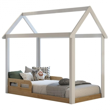 Mini Cama Montessoriana Analu Branco Bétula - Carolina
