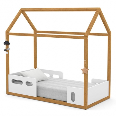 Mini Cama Montessoriana Liv Branco Freijó - Matic