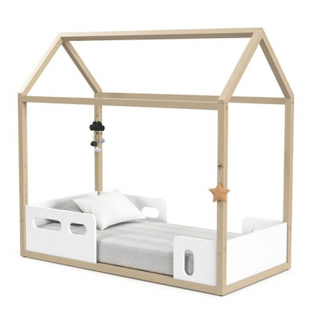 Mini Cama Montessoriana Liv Branco Soft Natural - Matic