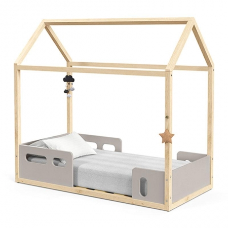 Mini Cama Montessoriana Liv Cinza Natural - Matic