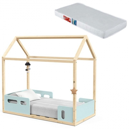 Mini Cama Montessoriana Liv Menta Natural com Colchão - Matic