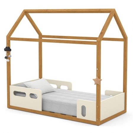 Mini Cama Montessoriana Liv Off White Freijó - Matic