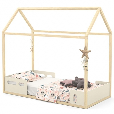Mini Cama Montessoriana Liv Off White Natural - Matic