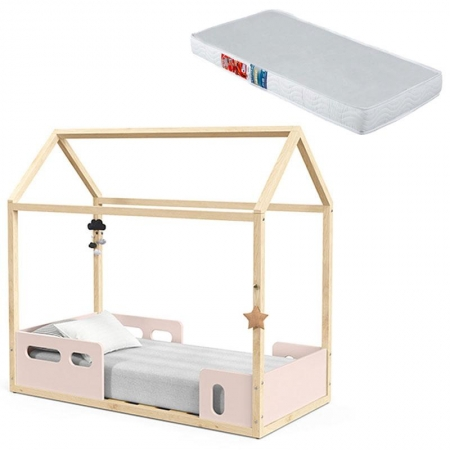 Mini Cama Montessoriana Liv Rose Natural com Colchão - Matic